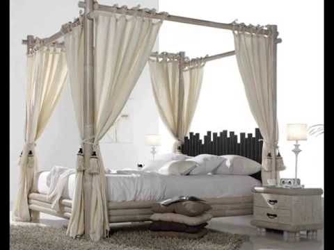 Camas con dosel camas con dosel de forja y madera youtube - Cama dosel madera ...