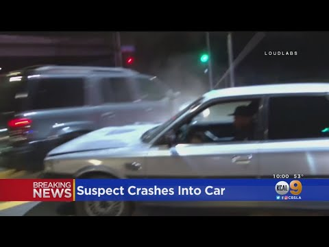 Wild Stolen Car Pursuit In San Fernando Valley
