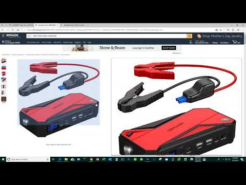 Kayak Fishing Fish Finder Battery Made From Portable Car Jump Starter.