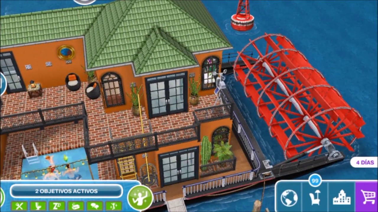 The sims freeplay especial de casas barco 2 youtube for Casa de diseno sims freeplay