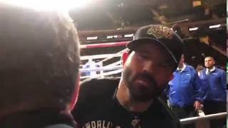 Canelo's brother REACTION right after the fight - Esnews