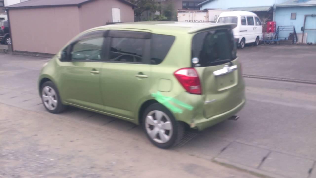 Видео-тест автомобиля Toyota Ractis (зеленый, 1NZ-FE, NCP100 .