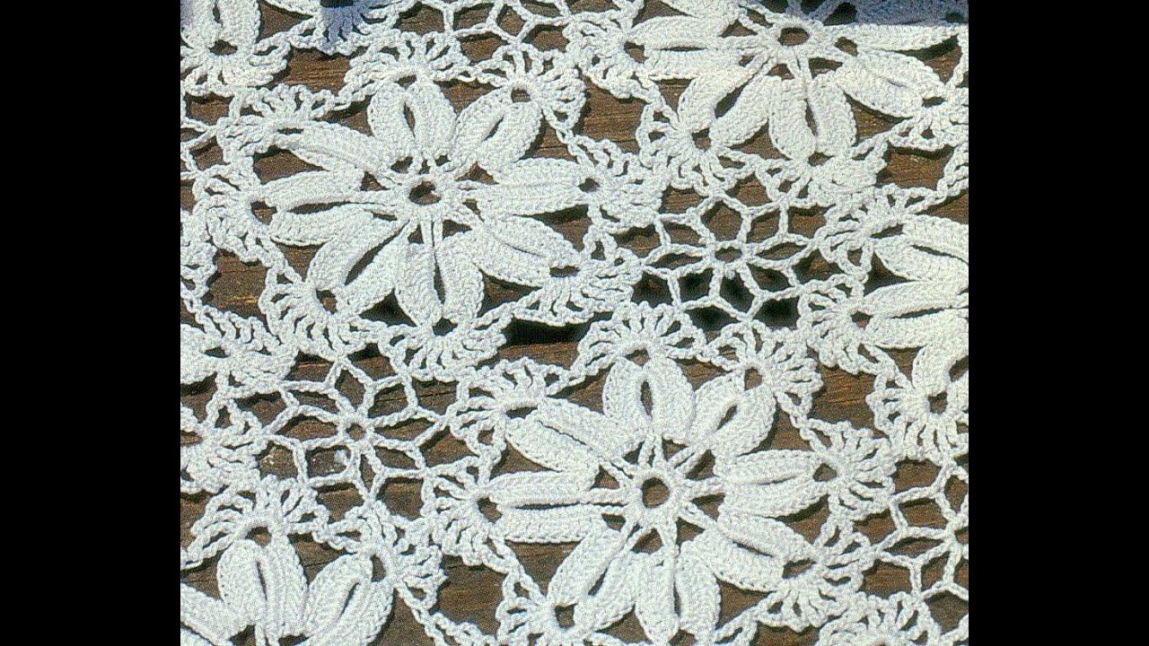 Patrón Para Tejer tapete Cuadrado a Crochet by CRISTINA LL