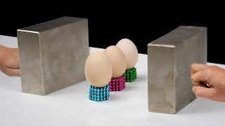 Double Monster Magnets VS 3 Eggs in Slow Motion [ Satisfaction 130% ]