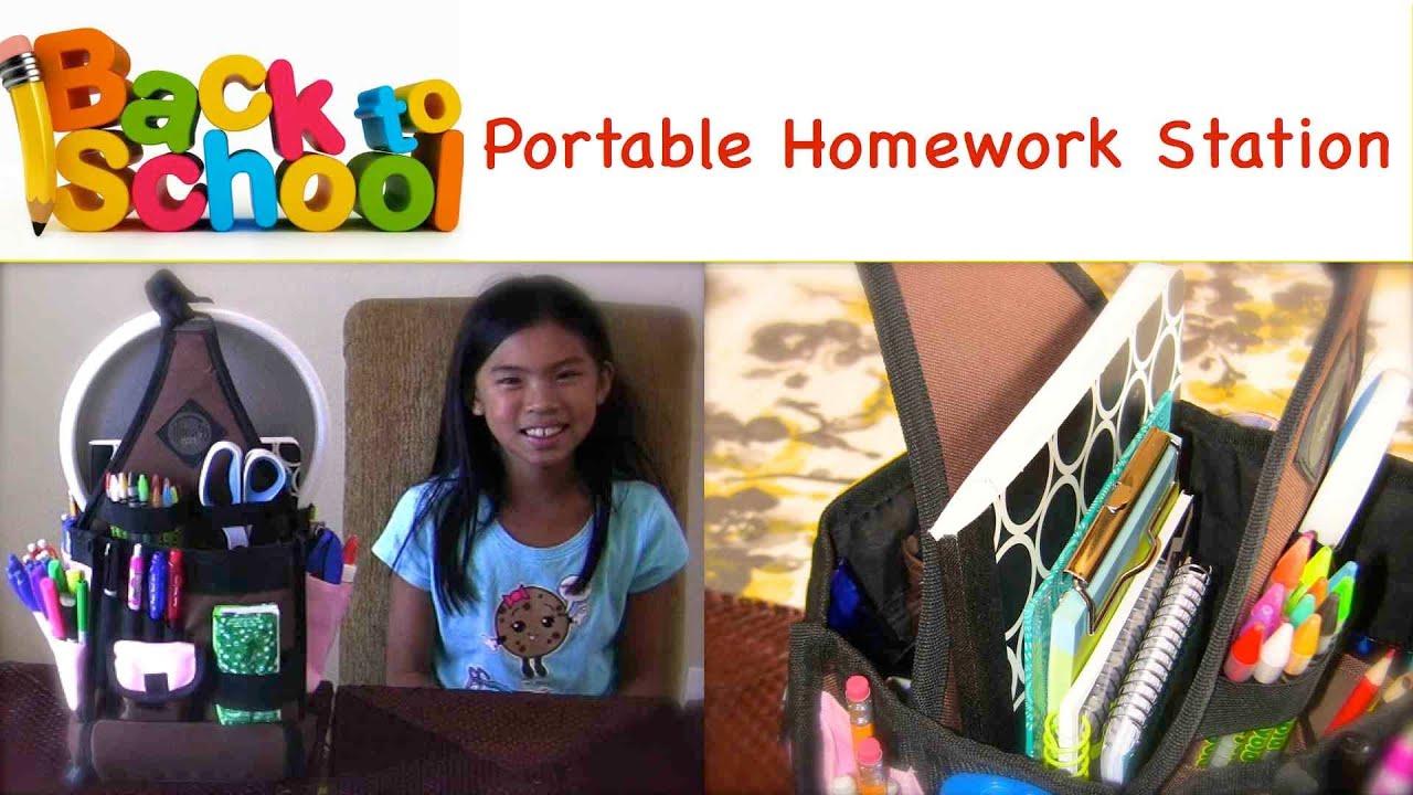 back to organization portable homework station my
