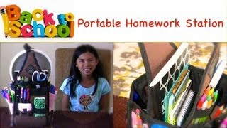 Back To School Organization - Portable Homework Station {my Organized Kid}