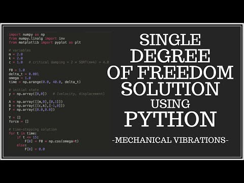 Numerical Solution to the Single Degree of Freedom (SDOF) Problem - Part 2 - Coding in Python