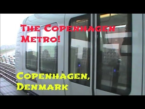 Riding the Metro in Copenhagen, Denmark