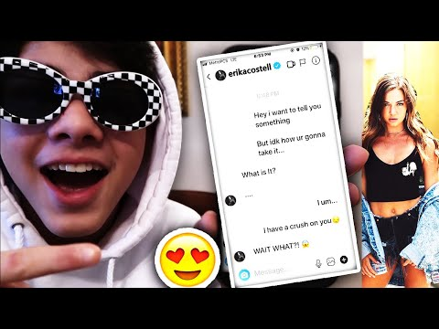 TELLING THE REAL ERIKA COSTELL I LIKE HER!! (TEXTING JAKE PAUL'S GIRLFRIEND)