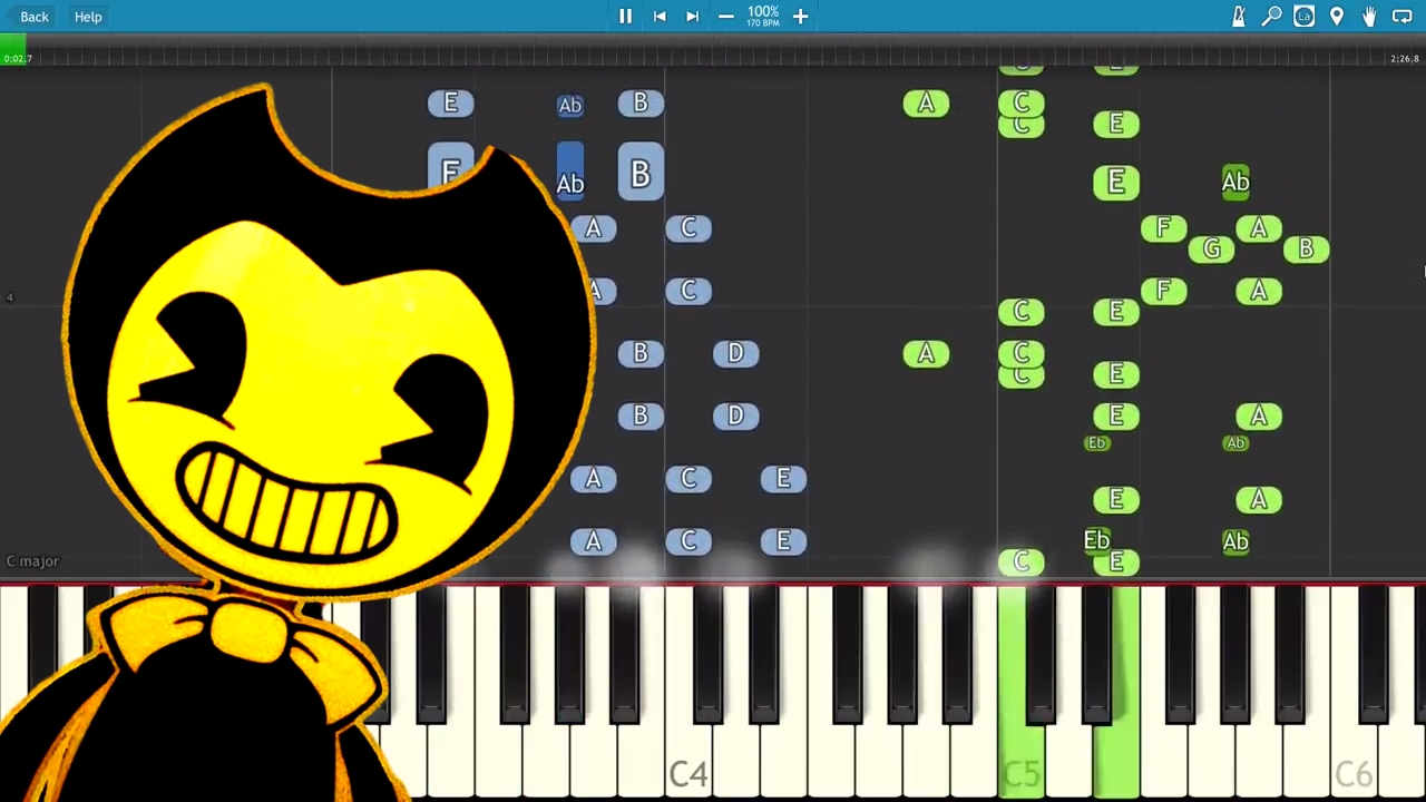 bendy and the ink machine piano
