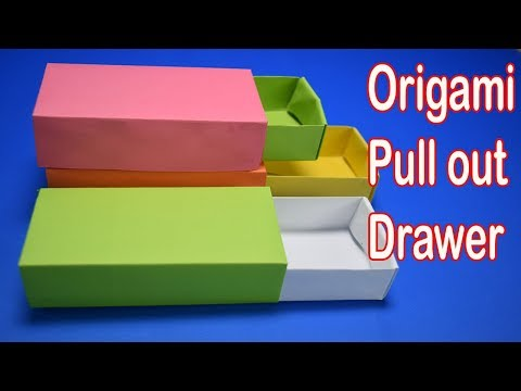 Origami Pull out drawer box tutorial I Paper Craft