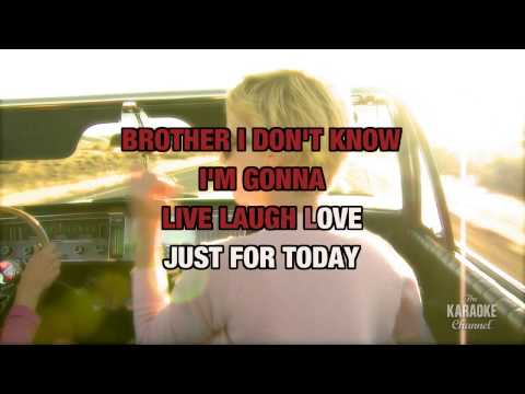"Live, Laugh, Love in the Style of ""Clay Walker"" with lyrics (with lead vocal)"