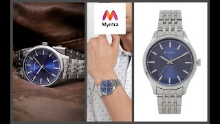 Mast & Harbour Men Blue Analogue Watch PN-WTH-8196G Myntra Unboxing
