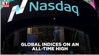 Global indices gain on upbeat earnings; bond yields, oil & crypto rise