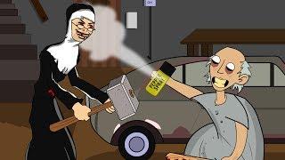 granny-the-horror-game-animation-25-evil-nun-vs-scary-granny-day-5