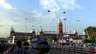 Chennai central - the main railway terminus in the city of Chennai