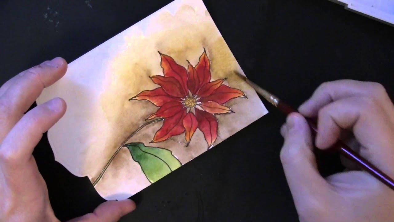 PB&J: Handmade Watercolor Christmas Card - YouTube
