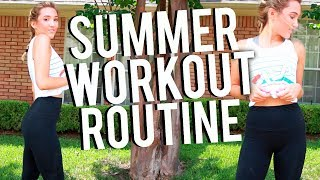 SUMMER WORKOUT ROUTINE 2017! Get Fit At Home Fast!