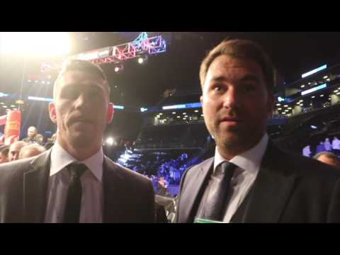 CALLUM SMITH (WITH HEARN) REACTS TO JAMES DeGALE'S MAJORITY DRAW WITH BADOU JACK IN BROOKLYN