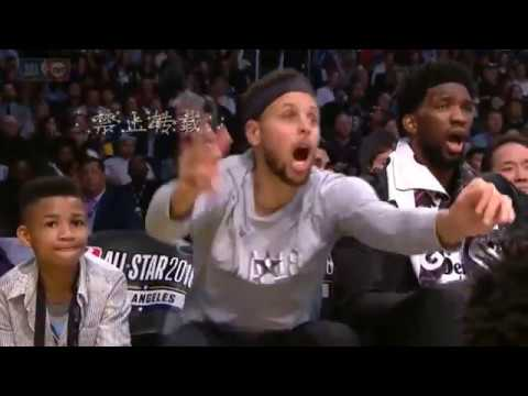 Giannis Antetokounmpo Block DUNK by Kemba Walker! See Curry Reaction! NBA ALLSTARS 2018