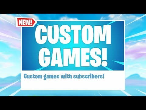 Fortnite: CUSTOM GAMES WITH SUBS! // Fortnite Battle Royale Gameplay // 2000+ Wins // PS4 PRO