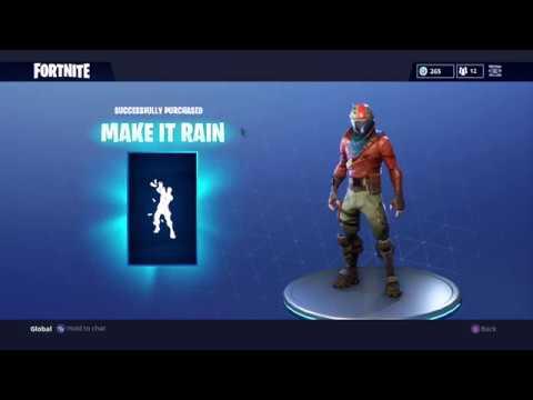 NEW Fortnite Emote- Make it Rain