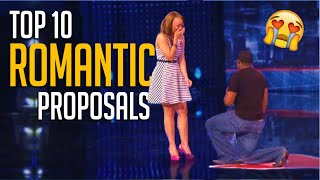 10 Most ROMANTIC Proposals Ever On TV Talent Shows!