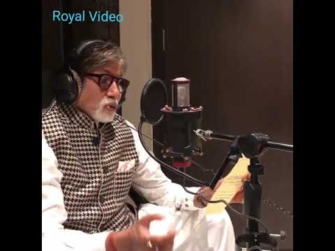 The legend of Flim Industry, Super Star, Mr. Big B Amitab Bachan just, In Studio With Funny Mood