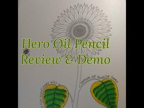 Hero (Guanghui) 160 Oil Pencils Review & Demo Hero vs. Prisma