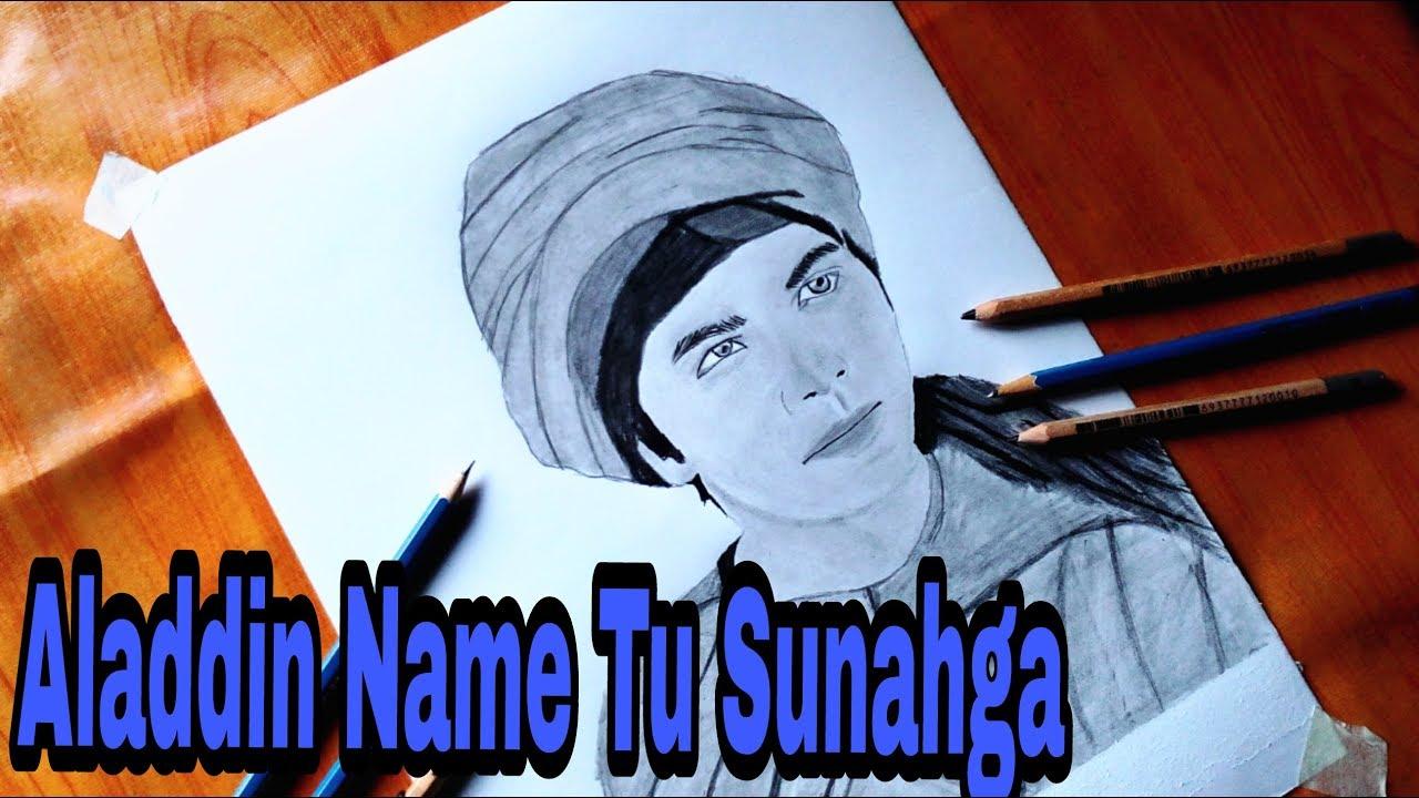 Aladdin realistic drawing siddharth nigam sony sab actor