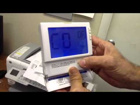 How To Program The Big Display Grainger T 801 Thermostat Youtube