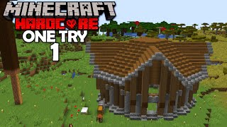 The GREATEST Beginning! (Minecraft One Try #1)