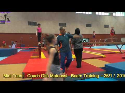 Beam Training - Mini Team 26 Jan 2016 - Coach Olfa Mattoussi