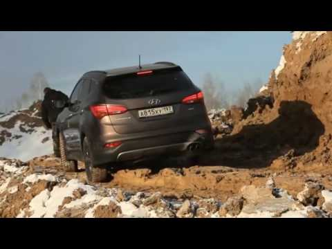 New Hyundai Santa Fe HD   Extreme Snow Offroad Test Drive