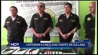 Sullana: Capturan a cinco asaltantes
