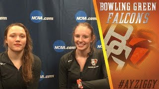 BGSU Diving: Tricia Grant and Talisa Lemke Interview (Mar. 16, 2018)