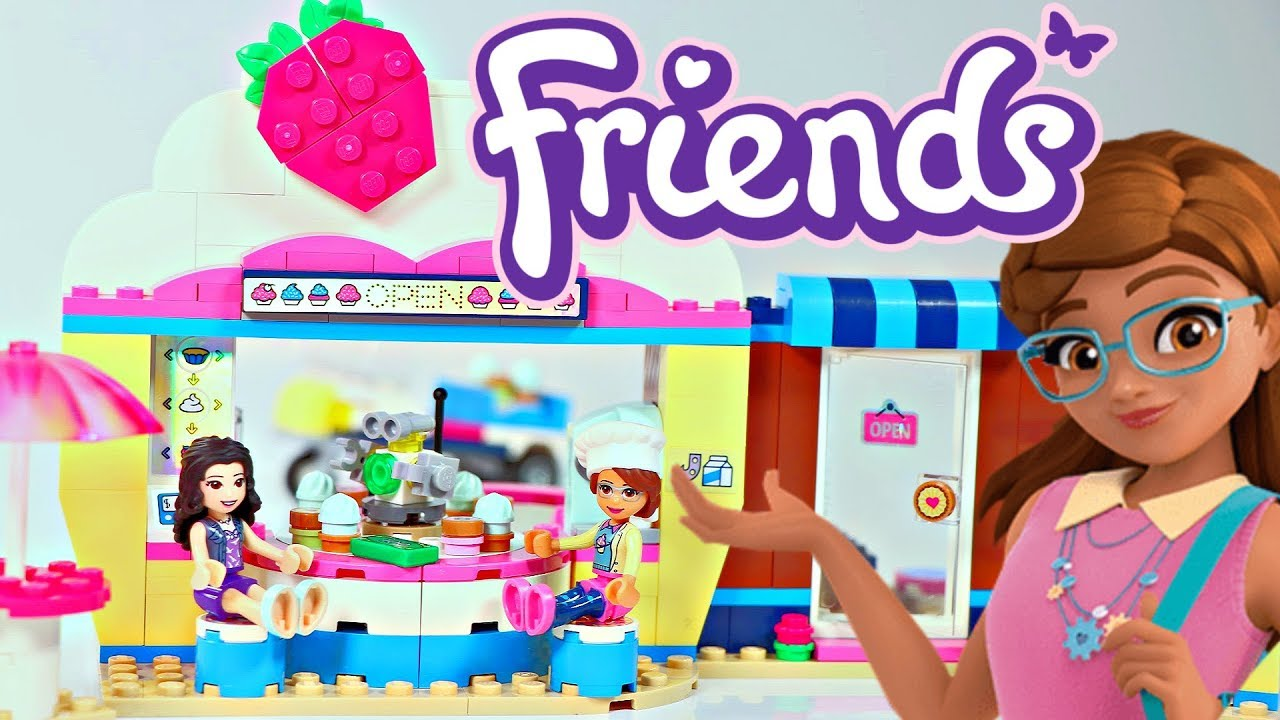 Lego Friends Olivias Cupcake Café 2019 Building Review 41366 Youtube
