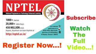 NPTEL Free Online Courses.Register Now 📝 Watch the Full Video to Fill the Registration Form... thumbnail