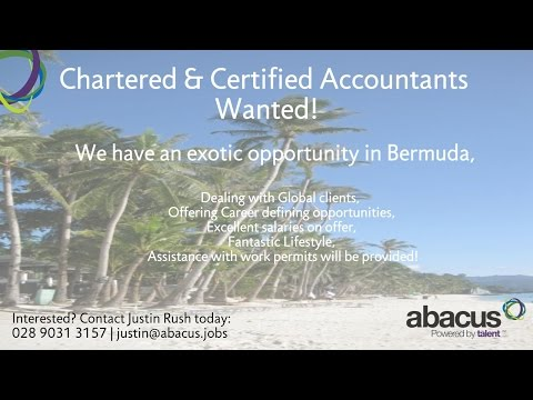 Chartered & Certified Accountants Wanted in Bermuda - Contact Abacus Professional Recruitment