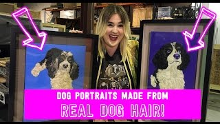 Unboxing Portraits Made of Real Dog Hair!