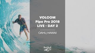 Surfing LIVE - Volcom Pipe Pro 2018 - Day 2