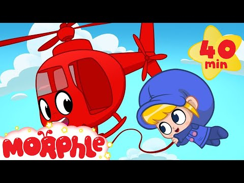 Rescue Helicopter - My Magic Pet Morphle | Cartoons For Kids | Morphle TV