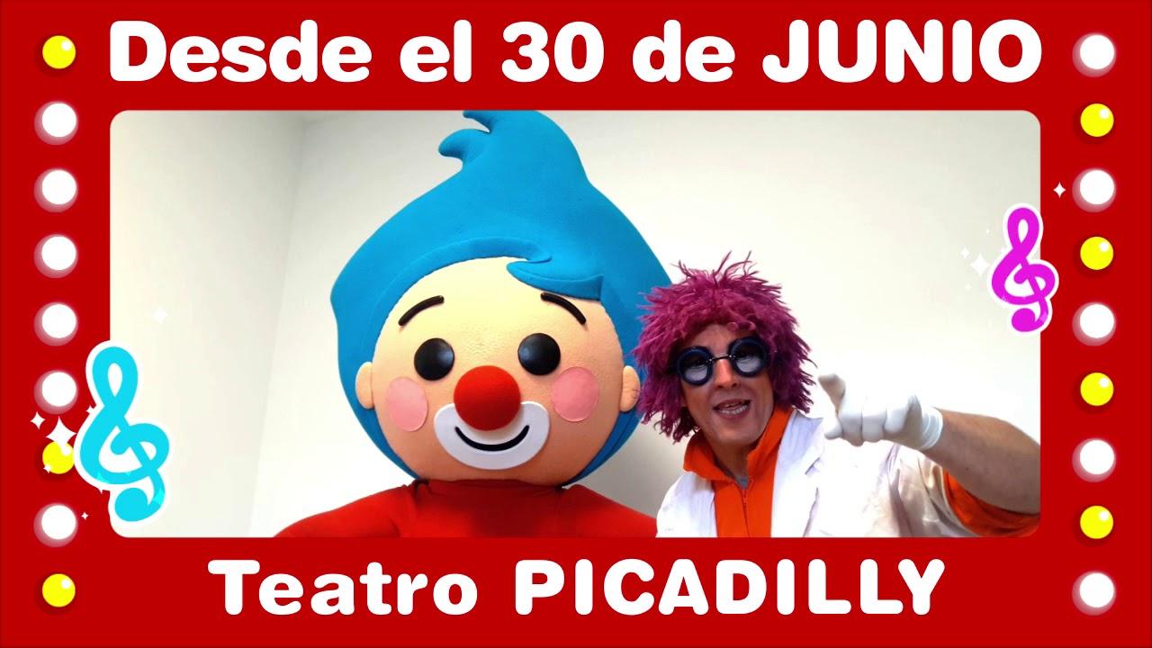 Bailando y Cantando con Plim Plim en Teatro Picadilly Buenos Aires 2018