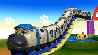 Cartoon-Hund, der Zug für Kinder | Mohn-Zug - SPIELZEUG-FABRIK