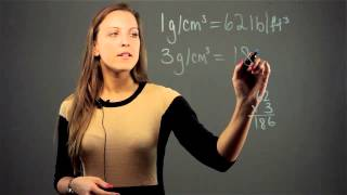 How to Convert Grams per Cubic Centimeter to Lbs per Cubic Foot : Math Conversions & Calculations