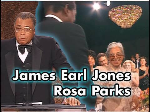 James Earl Jones and Rosa Parks at Sidney Poitier's AFI Life Achievement Award