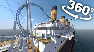 VR 360 Roller Coaster Ride on Titanic 4K