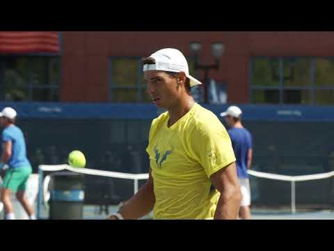 2017 US Open: Rafael Nadal's practice highlights