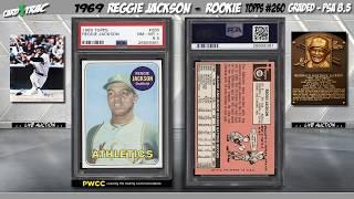 1969 Reggie Jackson ROOKIE CARD Topps #260 PSA 8 5