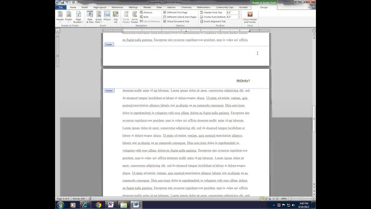 essay header and footer Open the header by double clicking the space at the top of the page or going to insert header & footer header edit header editing headers.